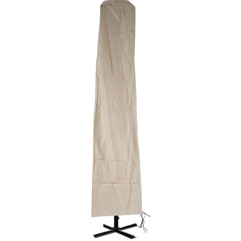 Housse de protection pour parasol déporté avec fermeture à glissière ~ 3x4m crème - HHG