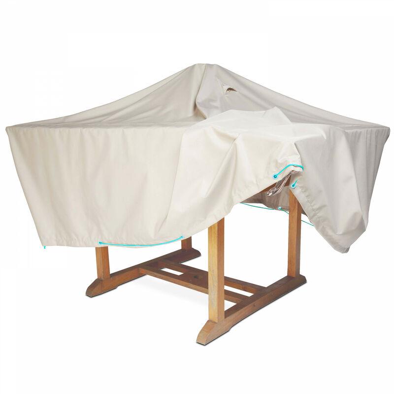 housse de table de jardin 170 x 110 cm taupe 100506. Black Bedroom Furniture Sets. Home Design Ideas