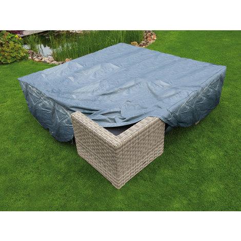 housse de protection pour salon de jardin bas l200cm. Black Bedroom Furniture Sets. Home Design Ideas