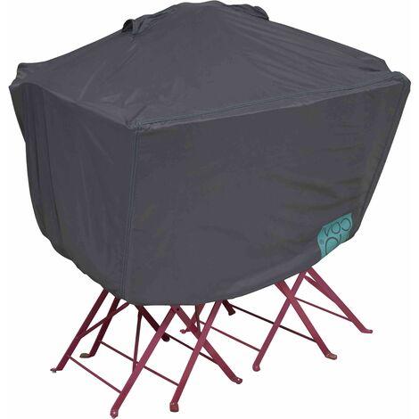 Housse de protection pour table de jardin carrée 80 cm Cov'Up - Gris