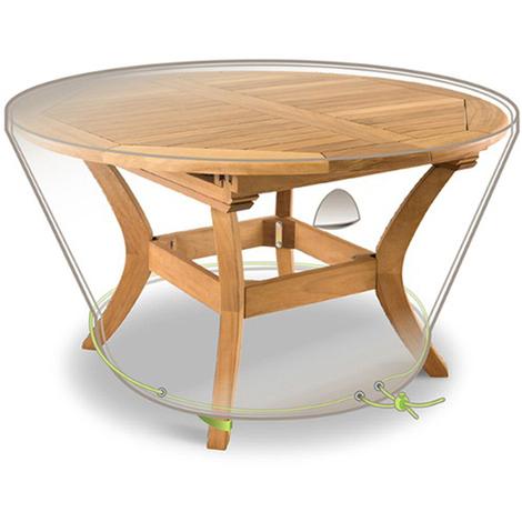 Housse de protection pour table de jardin ronde de 6 personnes - Dim : Ø  120 x 50