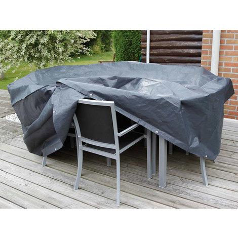 housse de protection pour table de jardin rectangulaire. Black Bedroom Furniture Sets. Home Design Ideas