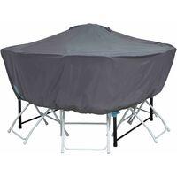 Housse de protection pour Table ronde 120 cm - Gris