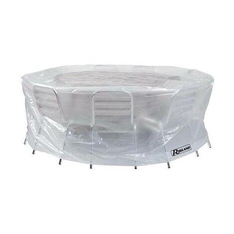 Housse de protection pour table ronde de jardin - indéchrable - étanche