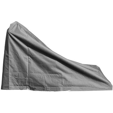 Housse de protection pour tondeuse Haute qualité polyester L 148 x l 54 x h 100/30 cm couleur anthracite