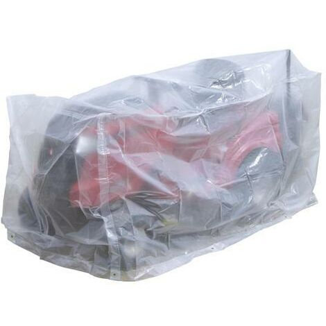 Housse de protection pour tracteur tondeuse autoportée avec bac 251x110x110cm 90gr/m²