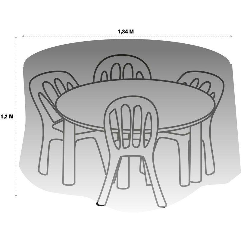 Ronde Jardin Protection Housse Pvc Cm 184 Vert De Table GUpSMVqz