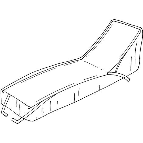 Housse de protection renforcée pour bain de soleil - 70x210x H75cm