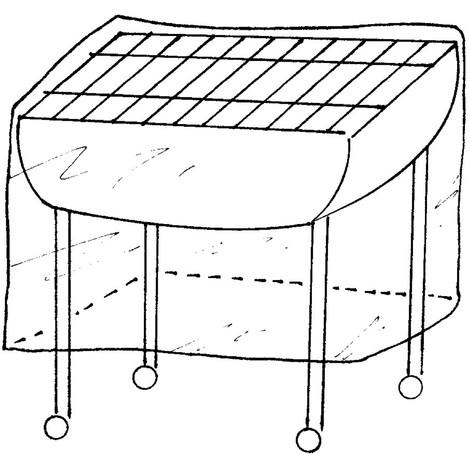 Housse de protection renforcée pour barbecue grand modèle - 130x70x H80cm