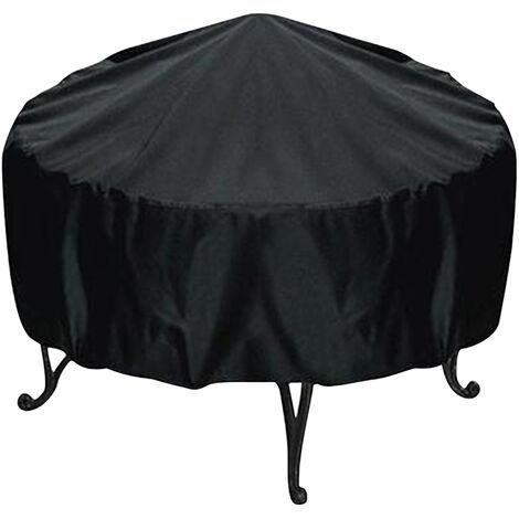 """main image of """"Housse de protection ronde noire etanche a l'eau et a la poussiere pour barbecue exterieur (diametre 112cm)"""""""