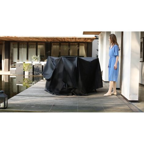 Housse de protection salon de jardin 200x140x105cm - Brescia (6/8/10/12 pl)