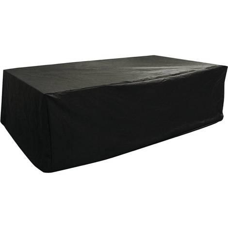 housse de protection salon de jardin chicago 6 noir. Black Bedroom Furniture Sets. Home Design Ideas