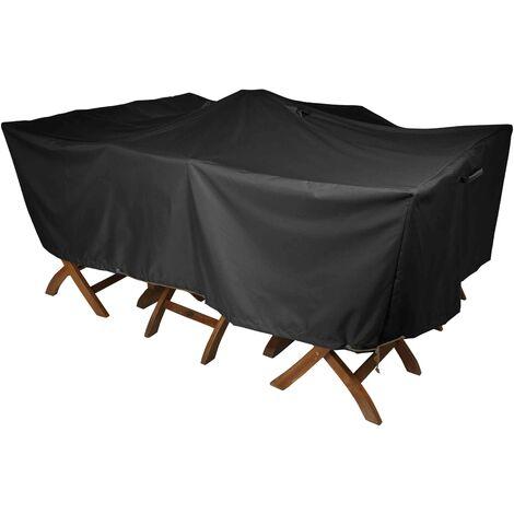 Housse de protection table de jardin 180 x 120 cm - Noir