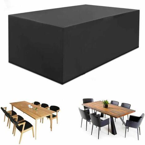 Housse de protection table de jardin etanche Housse Meuble Bache polyester - 180*120*74cm