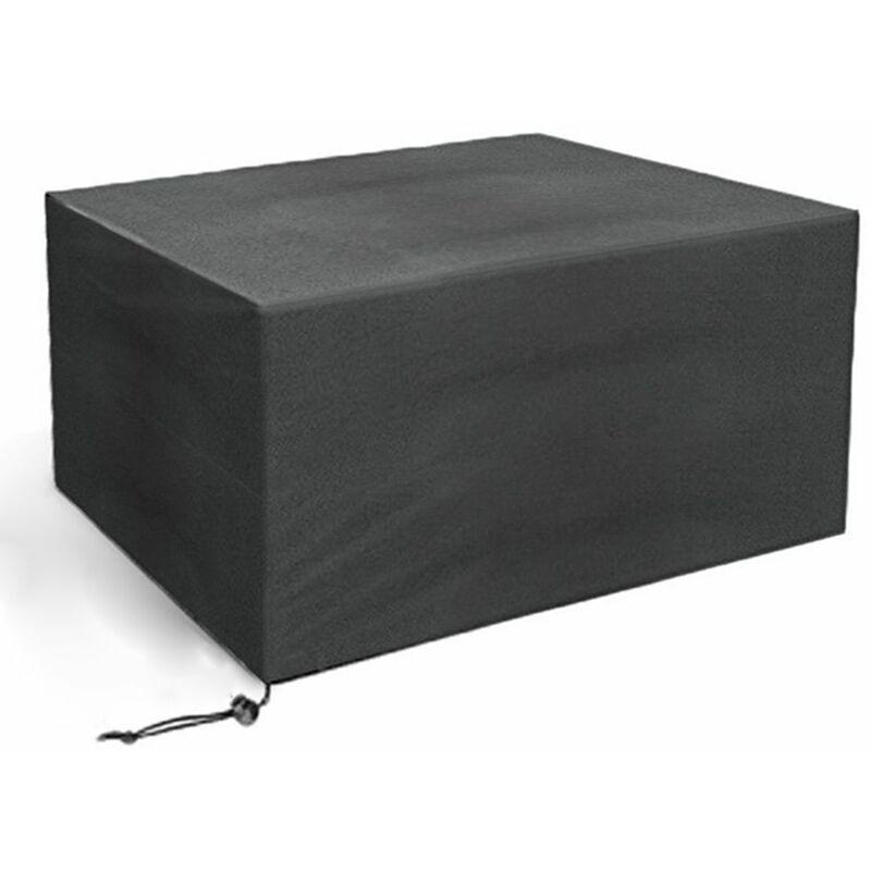 Housse de protection Table de Jardin Rectangulaire 110*110*65cm - noir - Noir