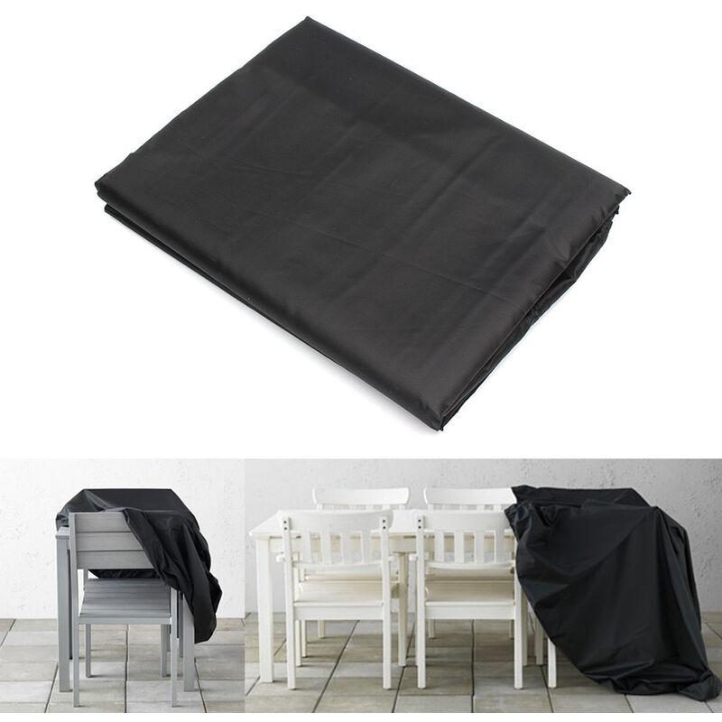 Skecten - Housse de Protection Table de Jardin Rectangulaire Haute Qualité Polyester L 180 x l 112 x h 65 cm Couleur Noir