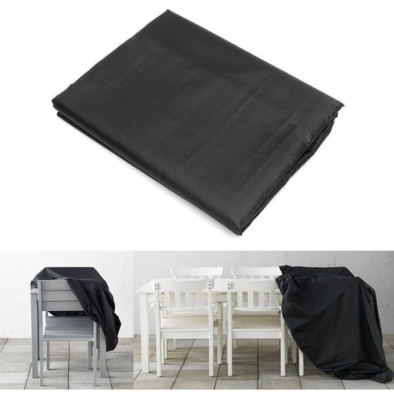 Oobest - Housse de Protection Table de Jardin Rectangulaire Haute Qualité Polyester L 180 x l 112 x h 65 cm Couleur Noir