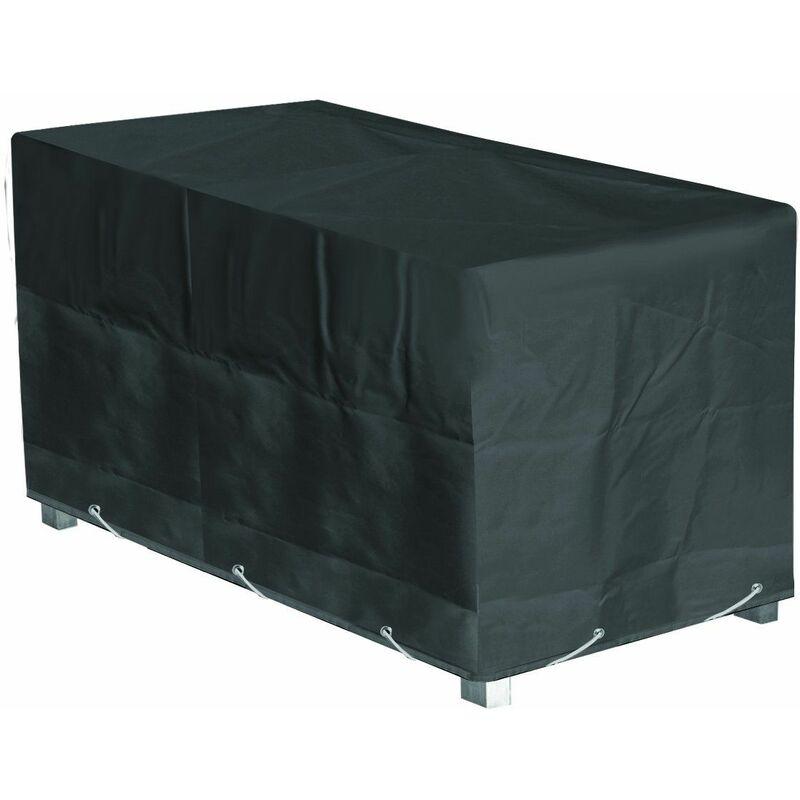 Housse de protection Table de Jardin Rectangulaire Haute qualité polyester L 200 x l 130 x h 60 cm Couleur Anthracite - Anthracite