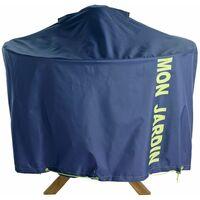 Housse de protection table de jardin ronde 120 cm - Bleu