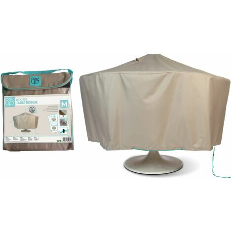 Housse de protection table de jardin ronde 160 cm - Taupe - 100505
