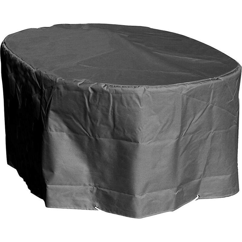 Housse de protection Table ovale de Jardin Haute qualité polyester L 250 x l 110 x h 70 cm Couleur Anthracite - Anthracite