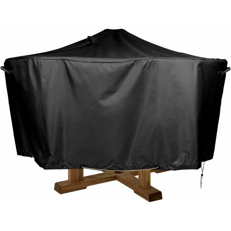 Housse de protection table ronde 130cm Premium - Noir