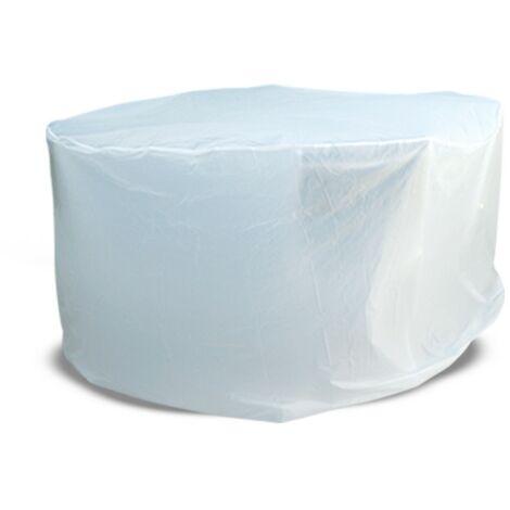Housse de protection table ronde de jardin Blanc 170 cm