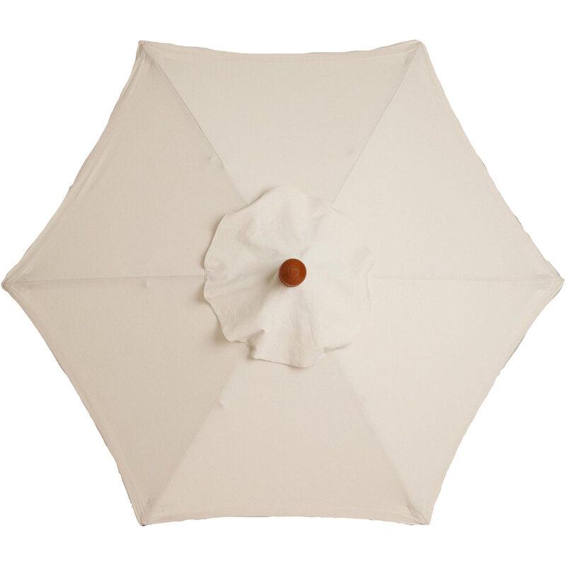 Housse de rechange pour parasol - 6 baleines - 2m - Imperméable - Protection UV - Tissu de rechange - Beige