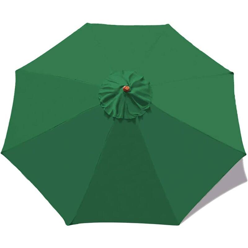 Housse de rechange pour parasol - 8 baleines - 3m - Imperméable - Protection UV - Tissu de rechange - Vert