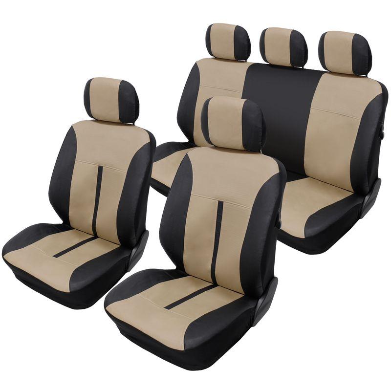 Siège-auto Housses Sitzbezüge déjà Housses Nappa Touch gris en cuir synthétique
