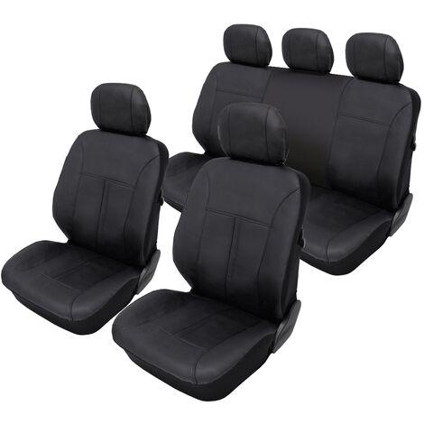 Housse de siège universelle pour voiture matériel cuir synthétique couleur noir