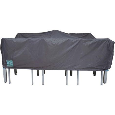 Housse de table de jardin rectangulaire 200 x 130 cm - Gris