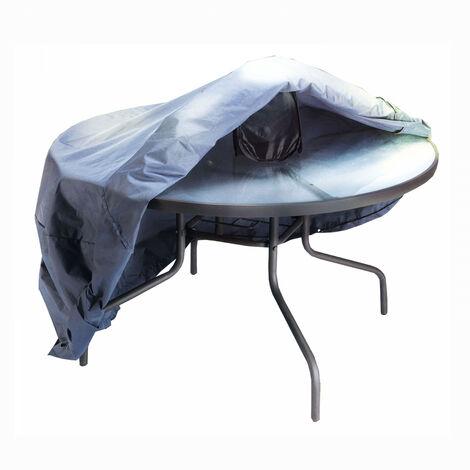 Housse de table de jardin ronde 140 cm - Gris - GD51955