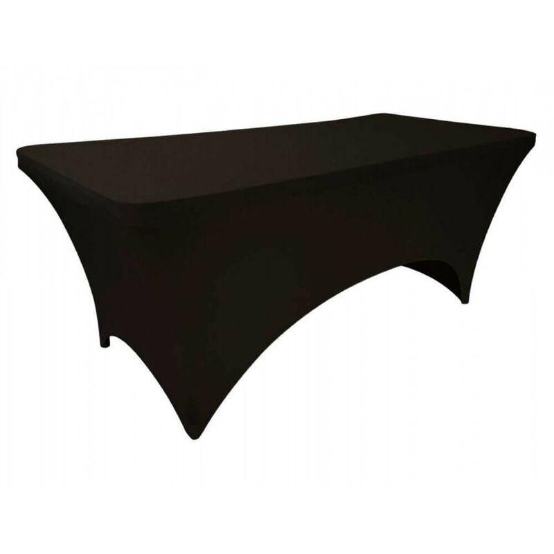 OSE - Housse de table de jardin banquet Spandex noir - noir