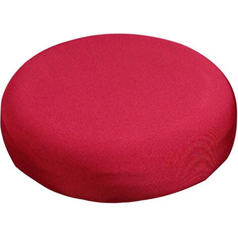"""main image of """"Housse de tabouret de bar rond extensible protecteur de coussin de chaise elastique amovible pour bureau a domicile"""""""