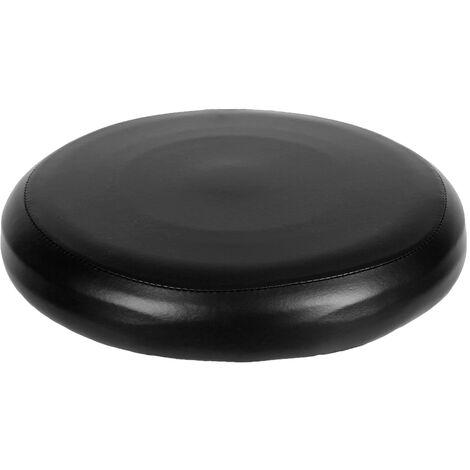 Housse De Tabouret Ronde En Cuir Pu Elastique, Noir