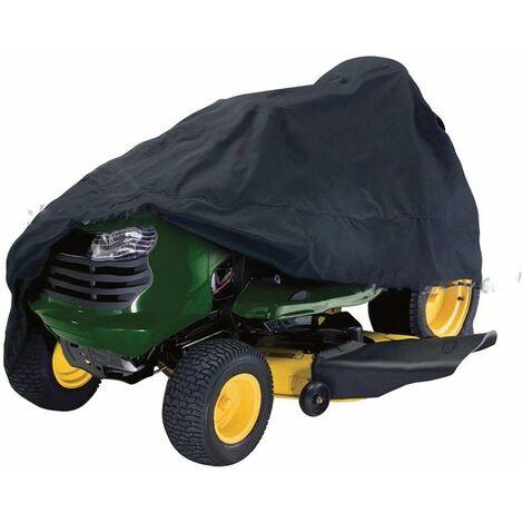 Housse de Tondeuse à Gazon, Housse de Tracteur de pelouse résistante en Tissu Oxford imperméable et Anti-UV 210D résistant à la poussière pour Jardin extérieur M Voir Image
