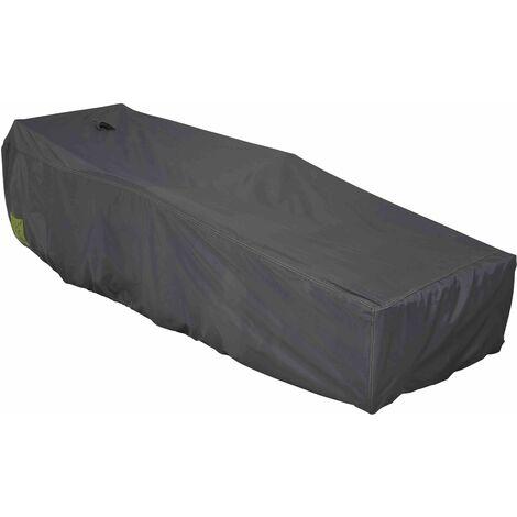 housse de transat et bain de soleil 200 x 75 cm gris. Black Bedroom Furniture Sets. Home Design Ideas
