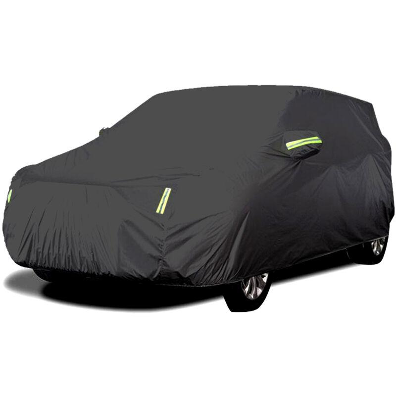 Housse de vehicule tout-terrain UV, protection solaire, isolation thermique, protection UV, resistance aux rayures, 4X4 quatre roues motrices, noir XL