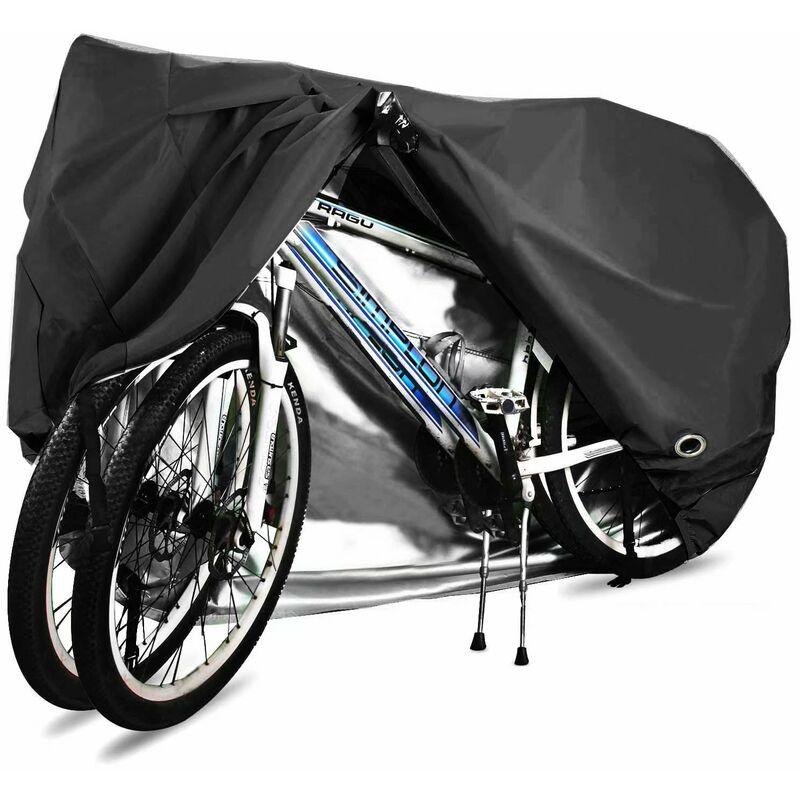 Housse de vélo, 210D Haute Qualité Housse de Bicyclette Imperméable Polyester Oxford,Convient Aux Vélos et électrique Motos et Scooters, Peut Couvrir