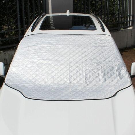 Housse de voiture universelle quatre saisons, housse de pare-brise de voiture anti-poussiere et ecran solaire, housse de voiture anti-neige d'hiver 140 * 120 cm