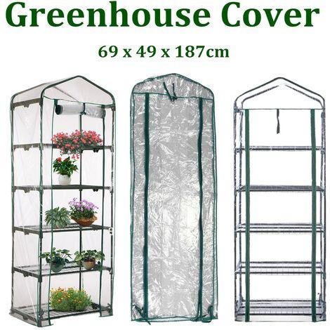Housse Étui À Serre De Jardin 5 Niveaux 69 X 49 X 187Cm Plante Durable Couverture Protection Anti Insecte