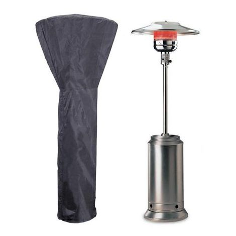 Housse haute protection pour parasols chauffants et radiateurs de terrasses type champignon standards.
