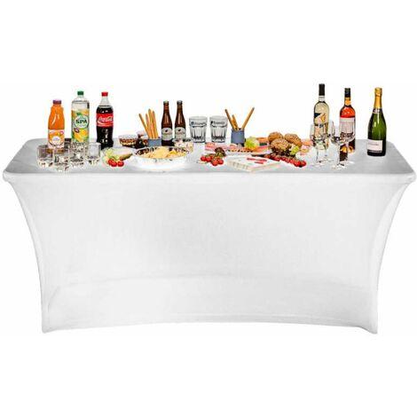 Blanche 180cm Housse Table Nappe Pliante hxBtsrdQC
