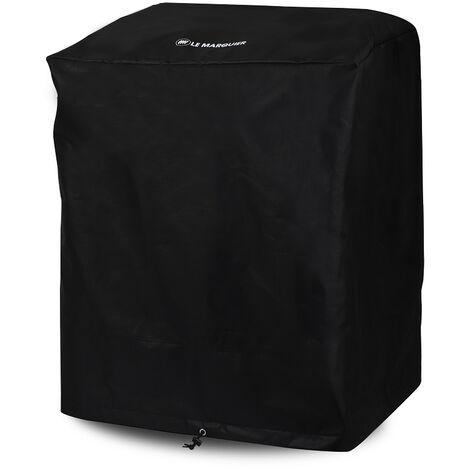 Housse noire Le Marquier PVC 80x60x95 cm pour planchas sur chariot ou desserte - Noir