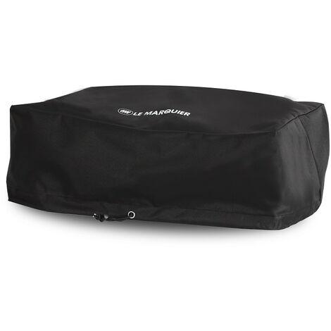 Housse noire Le Marquier PVC pour planchas et barbecues 65x50x25 cm - Noir