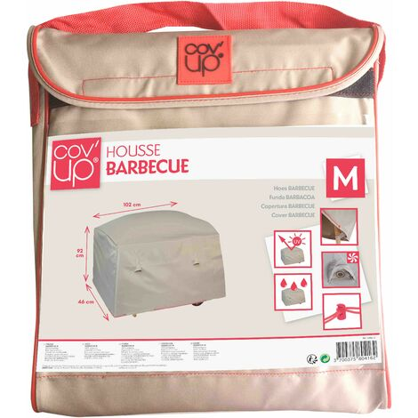 Housse pour barbecue plancha XL 102 x 46 cm Cov'Up - Taupe