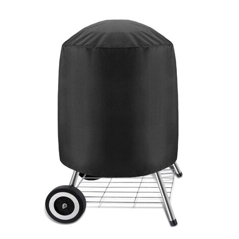 "main image of ""Housse pour Barbecues Charbon, Bâche Imperméable pour Barbecue Grill Exterieur, Housse Barbecue Rond 58*77 cm, Noir (58 x 77 cm) GrooFoo"""