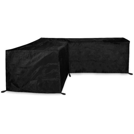 Housse pour canapé d'angle de jardin - 215x215x85cm - H: 70cm - Imperméable et résistante aux UV, à la gèle et les ternissements