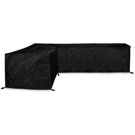 Housse pour canapé d'angle de jardin - 250x250x90 H: 70cm - Imperméable et résistante aux UV, à la gèle et les ternissements